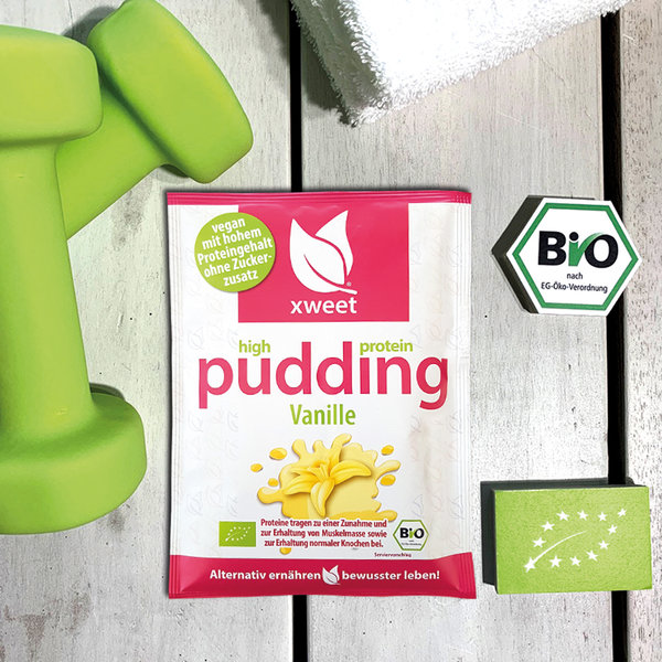 high protein pudding Vanille